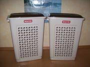 2 Wäscheboxen mit Klappdeckel CURVER -