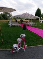 Pinker Läufer Eventteppich zu verkaufen