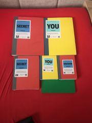 6 Hochwertige Notizbücher