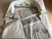 Roba Kinder-Bettgarnitur 4-tlg Babybett-Ausstattung Jumbotwins