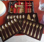 Kuchenbesteck goldfarbein/ vergoldet