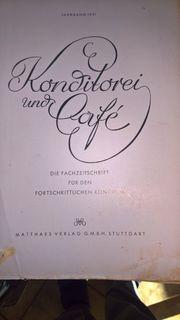 Alte Konditoreifachbücher aus 1950 und