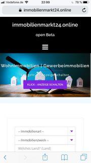 Makler beta Zugang für Immobilienportal