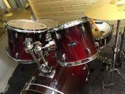 Basix Schlagzeug rot gebraucht