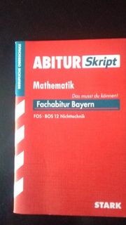 Fachabitur Bayern Mathematik Nichttechnik - Abi