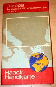 Kontinent Landkarten Haack Handkarte