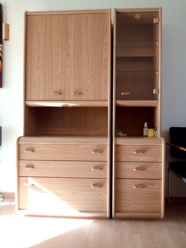 Wohnwand Mit Zwei Schranken Und Einem Schreibtisch Alles Etwa 2m