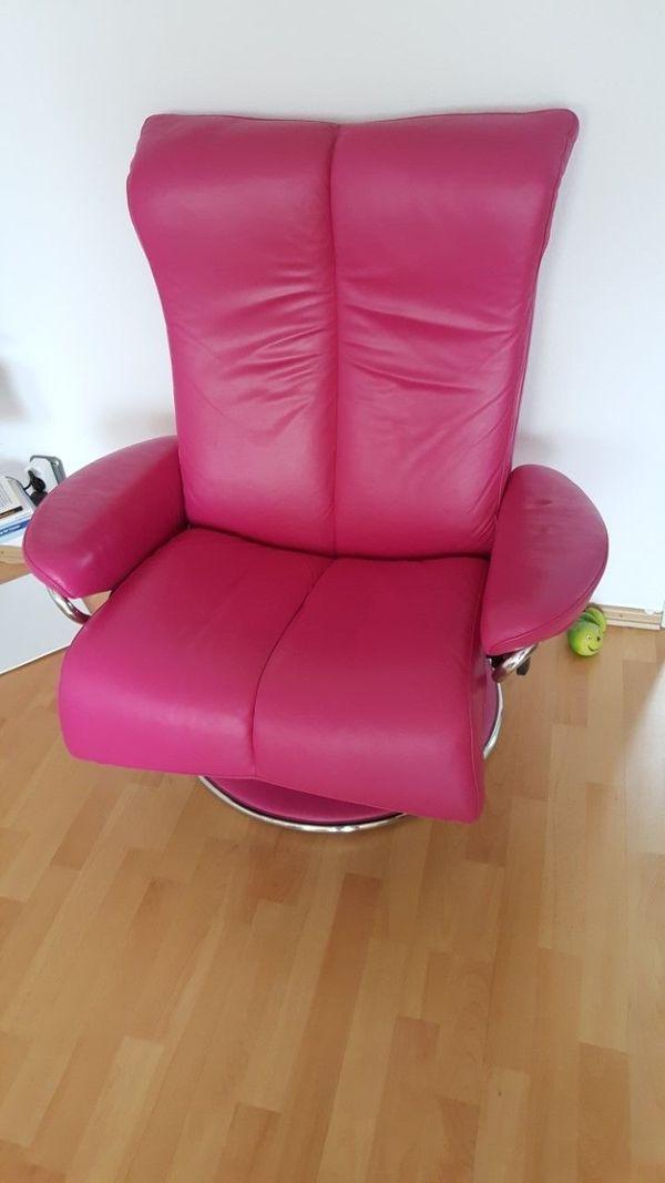 Stressless Sessel Leder In Aussergewohnlichem Pink In Frankfurt