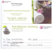 Gutscheine Geschenke Thaimassage Wellness Entspannung