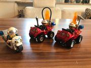 Lego Duplo Feuerwehren und Polizeimotorrad