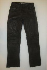Lederhose Enjoy Jeansschnitt Weite 29