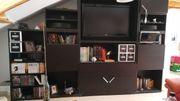IKEA BESTA komplette Schrankwand schwarzbraun
