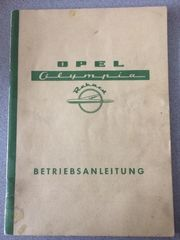 Betriebsanleitung OPEL Olympia 1954