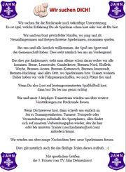 Frauenfussballerinnen in Delmenhorst gesucht