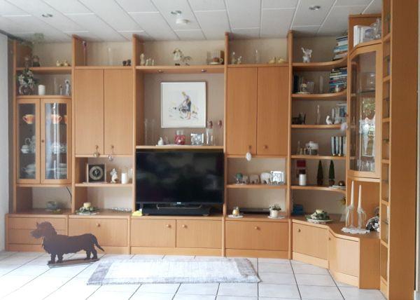 Wohnzimmermöbel massiv weiß  Wohnwand kaufen / Wohnwand gebraucht - dhd24.com