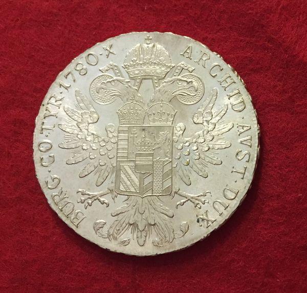 Silbermünze Maria Theresien Taler 1780 In Mannheim Münzen Kaufen