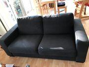 Sofa 2 Sitzer anthrazit von