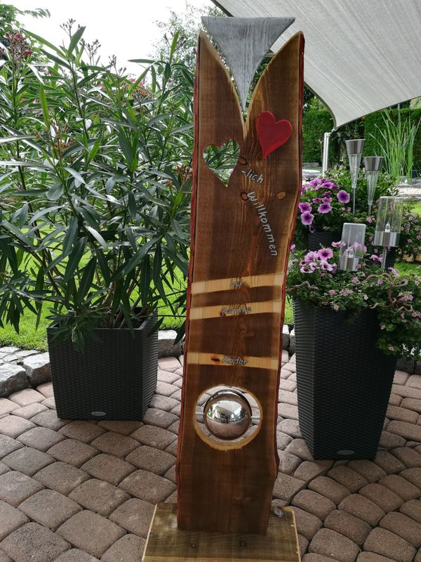 Gartenstelen Aus Holz stelen,garten,gartengestaltung,holzbretter,holz,holzbohle,deko