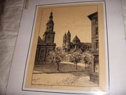 Karl Winkel Künstler Zeichnung Federzeichnung
