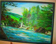 Landschaftsbild Ölgemälde