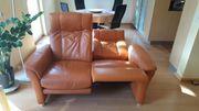 Leder Couchgarnitur 3-