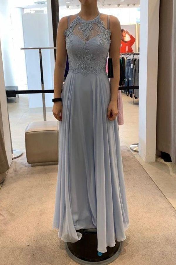 b6f1b89e404 Damen Kleid lang rückenfrei schwarz Maxikleid Abendkleid Cocktailkleid  Ketten Etuikleid M 40 42 NEU