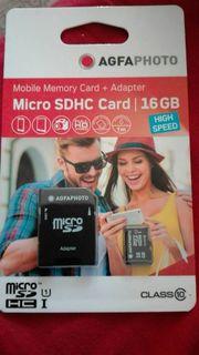 Speicherkarten + adapter 16gb