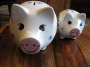 Sparschwein aus bemaltem