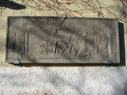 Reliefplatte aus Tuffstein