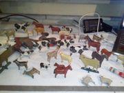 Antike handgeschnitzte Holzfiguren ca 30