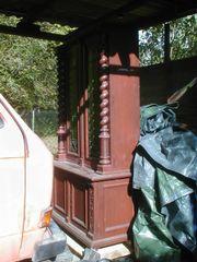 Holzschrank Flämisch antik massiv mit