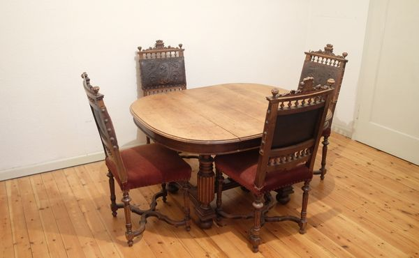 Gründerzeit Tisch Und 4 Antike
