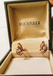 Goldohrringe mit Brillanten 750er Gold