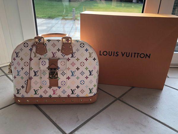 Louis Vuitton Alma Mm Multicolor Rechnung Dabei Sammlerstück In