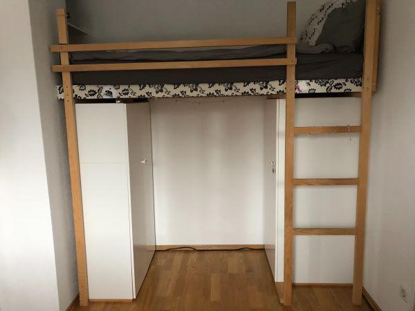 hochbett kleiderschrank gebraucht kaufen 3 st bis 75 g nstiger. Black Bedroom Furniture Sets. Home Design Ideas