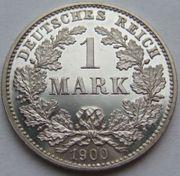 RARITÄT 1 Mark 1900 G