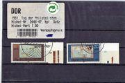 2 DDR-Briefmarken Tag der Philatelisten