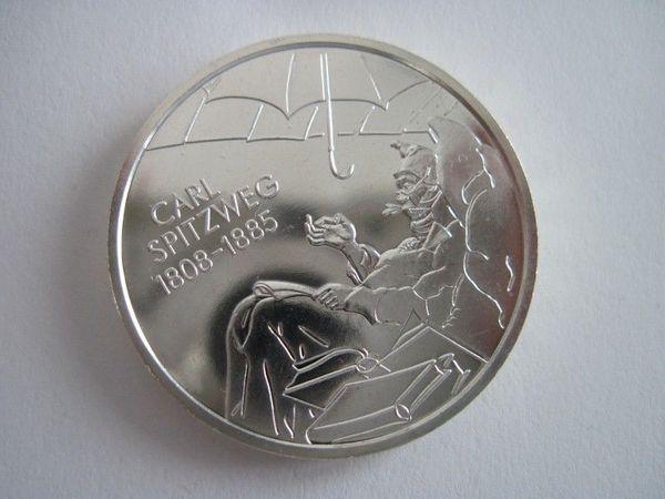 10 Euro Gedenkmünze 200 Geburtstag Carl Spitzweg 2008 D In Bremen