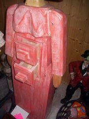 Unikate- Bodenvase---Holzfigure