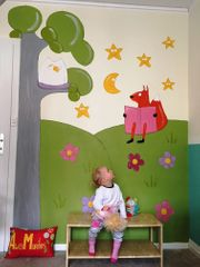 Wandmalerei für Kinderzimmer Wandbild