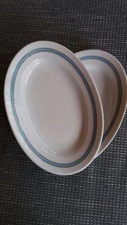 Blaurand 2 Stk oval zusammen
