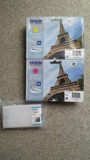 3 neue Epson Drucker Patronen
