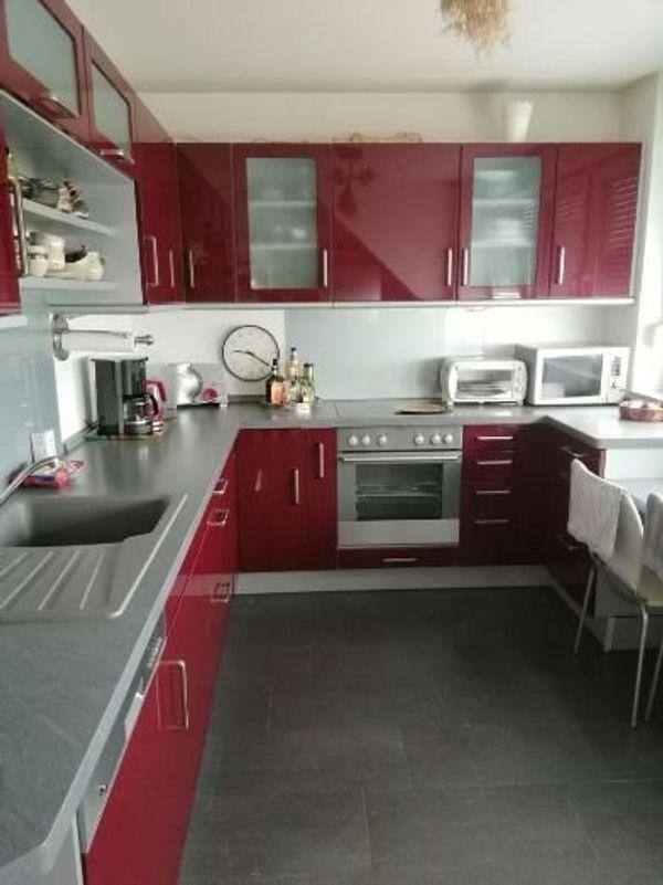 Rote Nolte Küche Mit Elektrogeräte Zuverkaufen In München