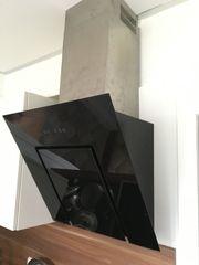 Dunstabzugshaube Abzugshaube Kopffreihaube Glas schwarz