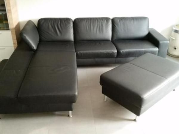 Echtleder Couch schwarz » Polster, Sessel, Couch