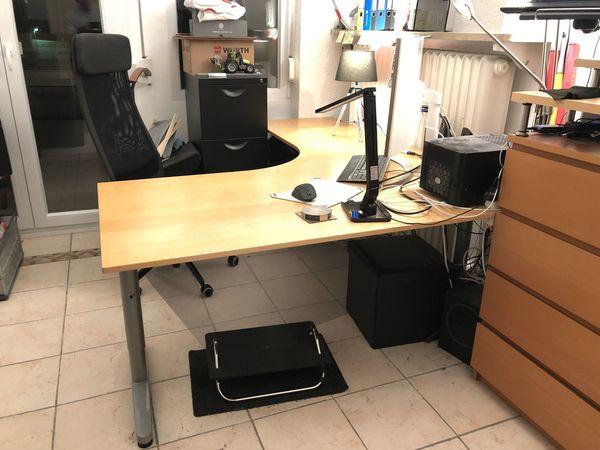 Schreibtisch Mit Viel Platz Und Hohenverstellung Ikea Galant In