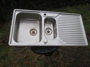 Doppelspüle gebraucht mit Wasserhahn 100
