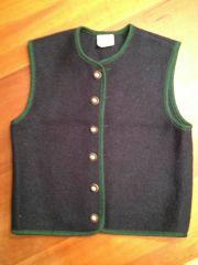 Trachtenweste dunkelblau-grün