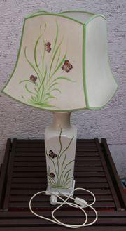 Shabby Vintage große Tischlampe Original