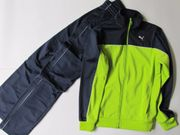 Puma Trainingsanzug grün blau Größe